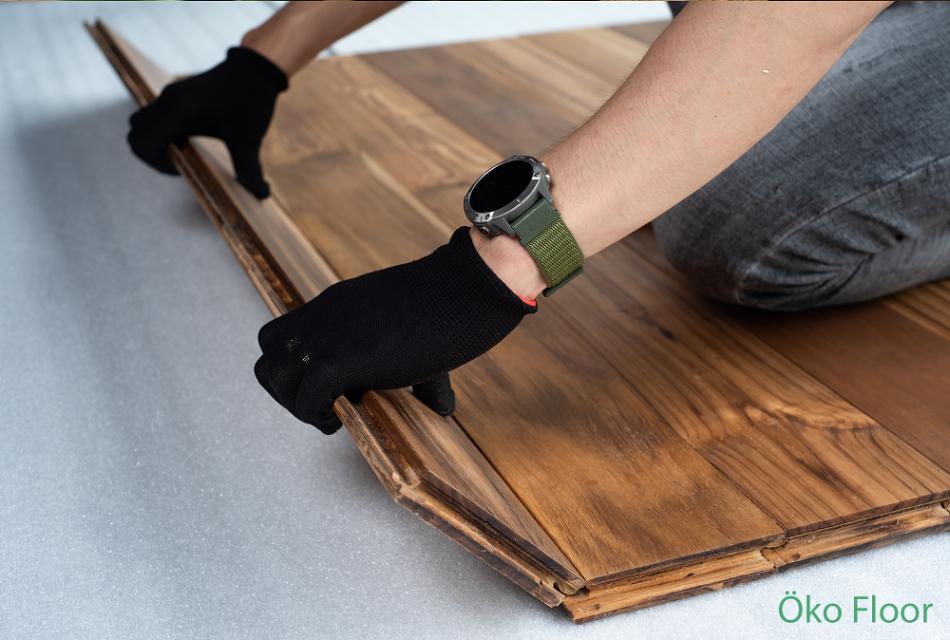 """Sàn gỗ öko, khi thủ công """"chạm"""" vào công nghệ"""